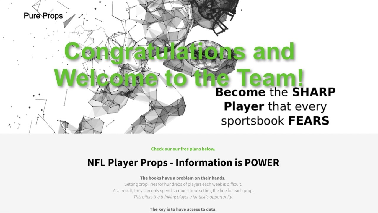 NFL Player Props (Pure Props: Data Analytics Platform Dedicated to Player  Prop Analysis)
