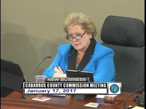 Cabarrus County Commissioners Mtg. 01.17.2017