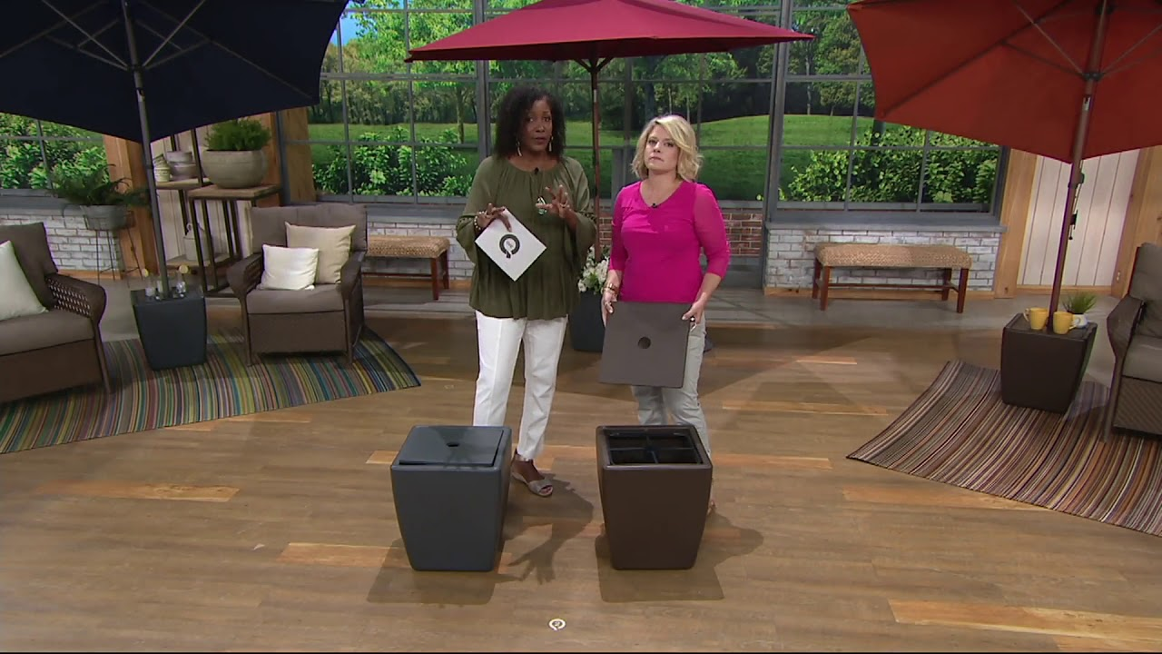 Atleisure 3 In 1 Planter Side Table And Umbrella Stand On Qvc Youtube