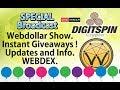 $WEBD #WebDollar Crypto Special Show. WEBDEX - Instant Giveaways - Crypto News