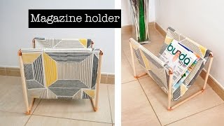 How to make a magazine holder -  DIY project