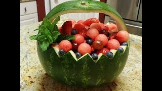 How to make watermelon fruits basket.
