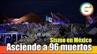 Asciende a 96 cifra de muertos por Terremoto en México