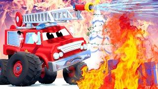 Monster trucks for children - CHRISTMAS CARTOON  - The Monster Town Christmas Tree! - Monster Town