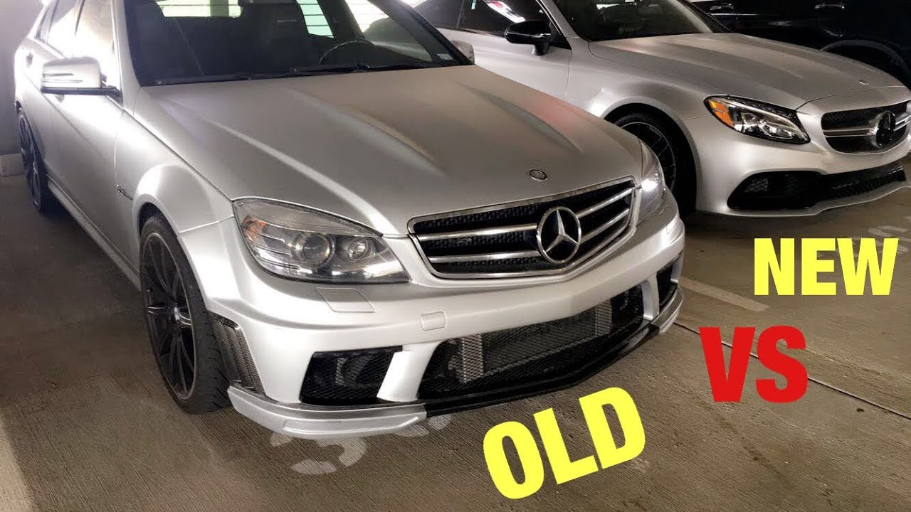 Old Mercedes C63 AMG VS New Mercedes C63 AMG S!! - YouTube