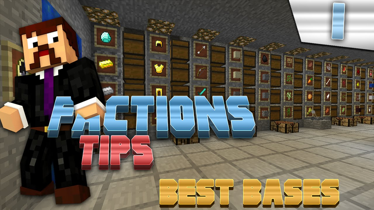 Minecraft Factions Tips Tricks #1 Best Bases To Make YouTube