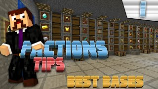 Minecraft Factions Tips & Tricks #1 - Best Bases To Make!