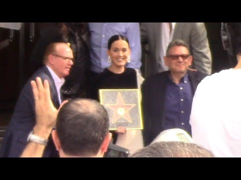 Katy Perry Presents Capitol Records With Star Of Recognition On Hollywood Walk Of Fame