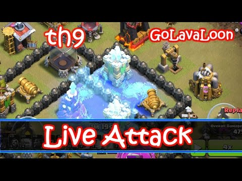 LIVE Attack By Me - Freeze Spell In Action In Th9 - GoLavaLoon Attack