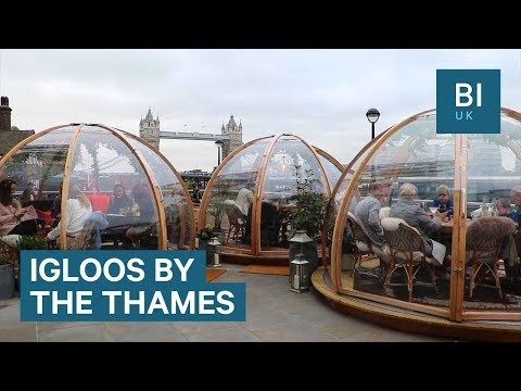 You can now eat in an igloo by the River Thames