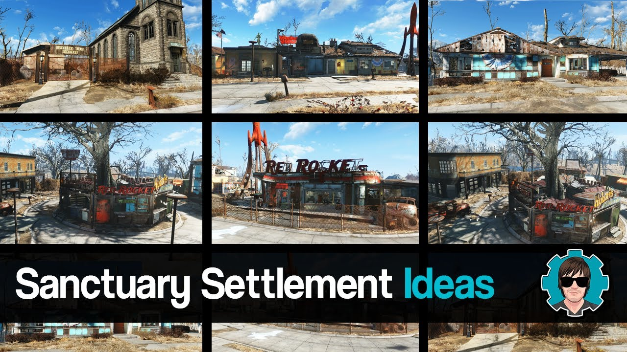 Fallout 4 sanctuary settlement ideas youtube for Fallout 4 bedroom ideas