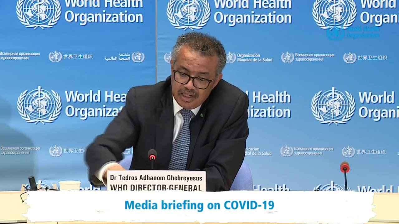 Live from WHO Headquarters - COVID-19 daily press briefing 20 April 2020 -  YouTube