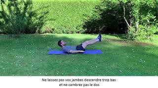 Enchaînement numéro 3 d'exercices pour muscler les abdominaux