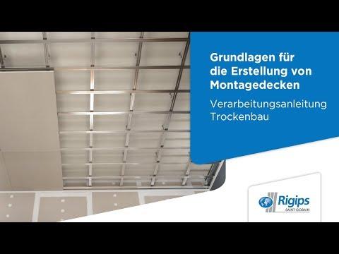 Grundlagen für die Erstellung von Rigips Montagedecken | Verarbeitungsanleitung Trockenbau