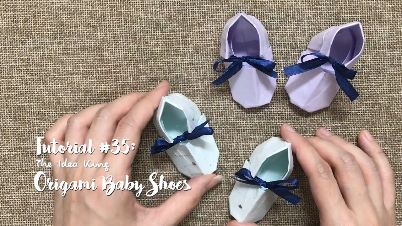 How To Make DIY Origami Cute Baby Shoes