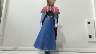 Paper Craft 3D Disney Frozen Anna How to make tutorial 紙模型3D迪士尼冷凍安娜如何製作教程
