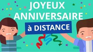 Joyeux Anniversaire A Distance Carte Virtuelle Youtube