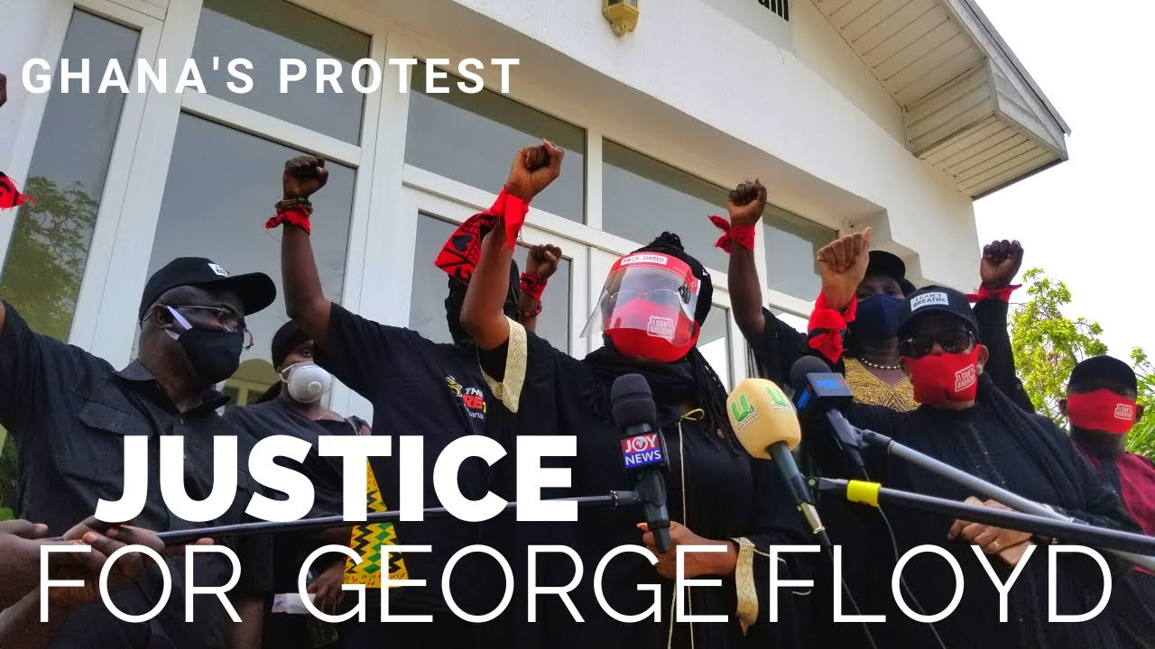 Ghana's Protest - Justice for George Floyd