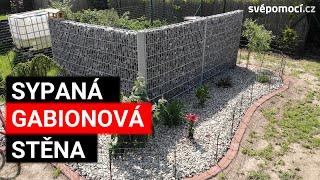 Realizace gabionové sypané stěny