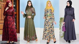 Sefamerve - Her Mevsime Uygun Desenli Kemerli Elbise Modelleri 2/4