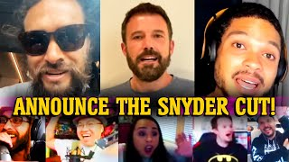 Zack Snyder's Justice League Announcement Reactions