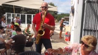 Christian Wolf, Saxophone Music at Bar Playa, Mallorca, Spain