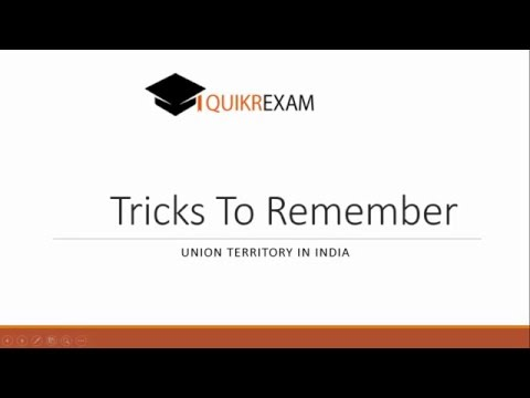 Tricks to remember Union territory in India