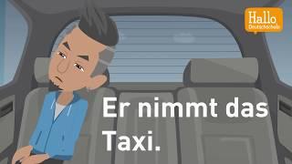 Deutsch lernen mit Dialogen / Lektion 28 / Dativ / Verkehrsmittel / Prüfung Hörverstehen