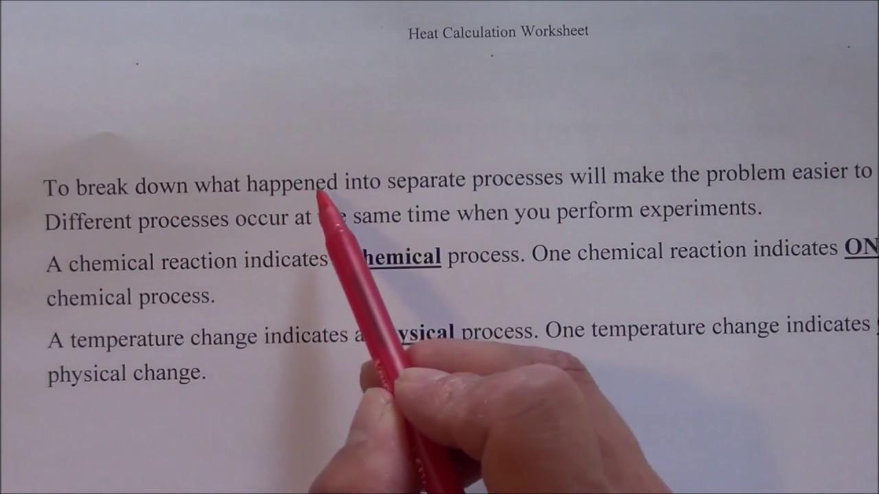 Heat (enthalpy) calculations: part 1, heat calculation of ...