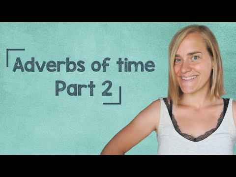 German Lesson (175) - Adverbs of Time - Part 2: morgens ∙ mittags ∙ abends ∙ nachts - A2
