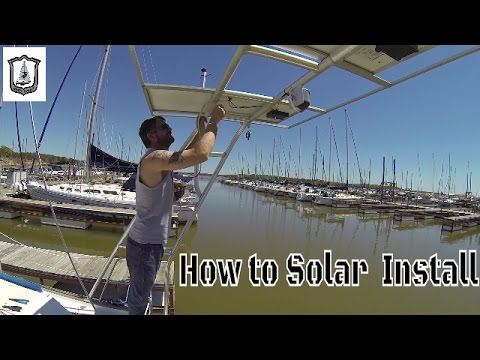 Installing Solar Panel System on 38 Endeavour - Grey Ghost Sailing