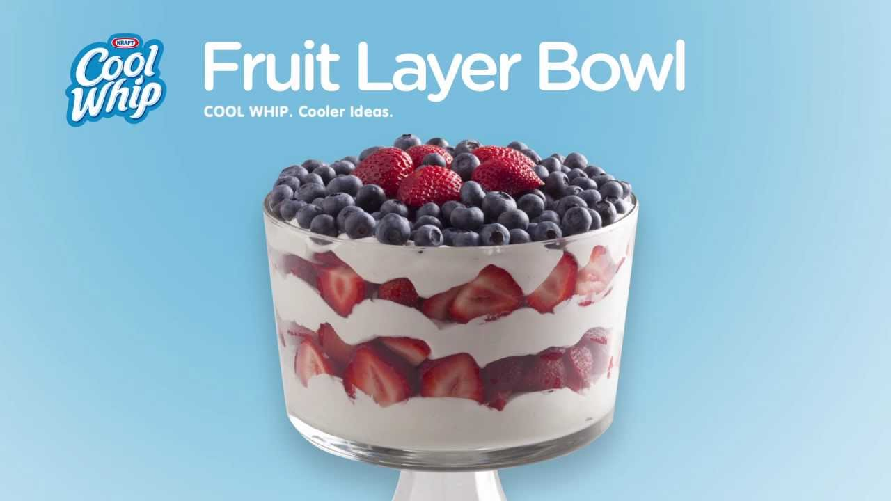 interesting ideas fruit bowl. Cool Whip Fruit Layer Bowl  YouTube