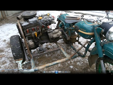 Такого мотоцикла вы не видели с двигателем от ВАЗ 2109!!!