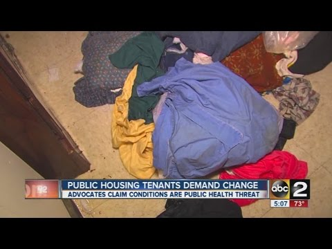 Public housing residents call for better conditions