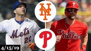 New York Mets vs Philadelphia Phillies Highlights | April 15, 2019
