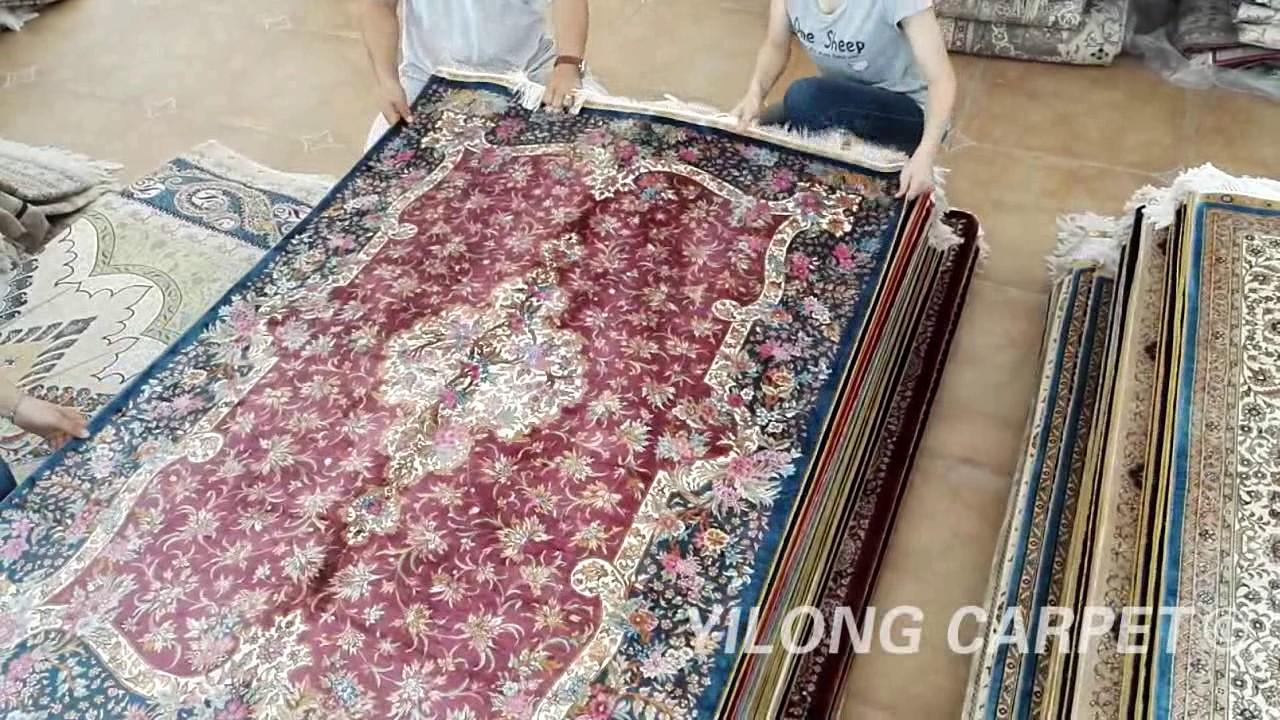 Chinese Silk Rug On Sale Persian Handmade Carpet Youtube