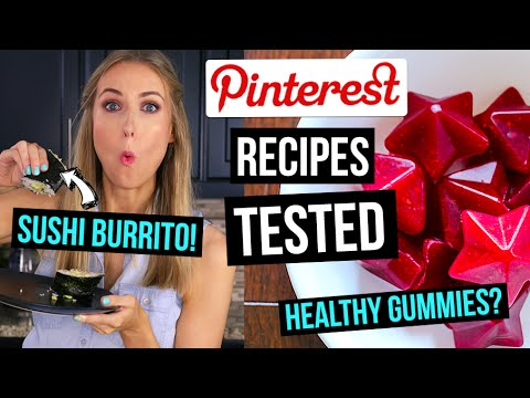 Pinterest Recipes TESTED || 3 EASY Meals & Snacks for School or Work!