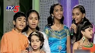Indian Patriot Songs by Little Champs 2015 Singers : TV5 News