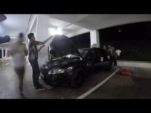 Skittlegiggles preparing Wedding bow for the car