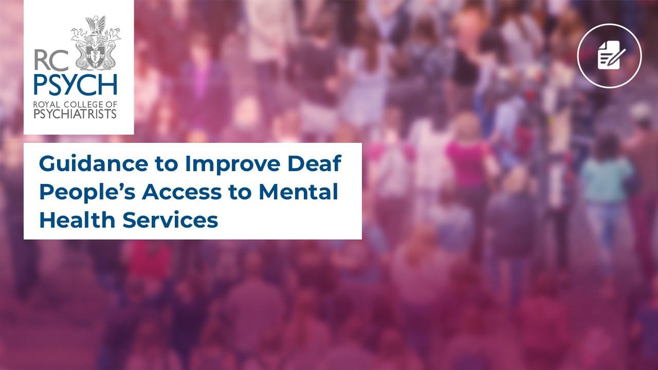 Mental Health Services for Deaf People