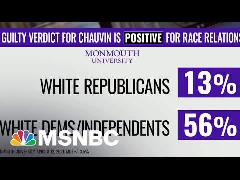 Polls Show Partisan Divide On Impact Of 'Guilty' Verdict In Chauvin Trial   The ReidOut   MSNBC