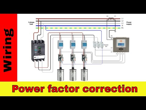How to wire power factor correction panel. - YouTube