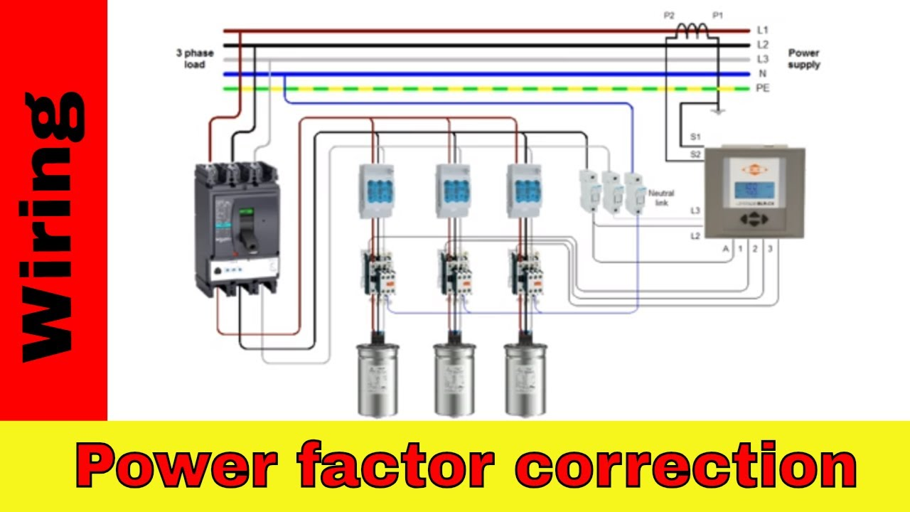 How to wire power factor correction panel. - YouTubeYouTube