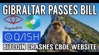 CRYPTO NEWS! Bitcoin breaks CBOE Futures Website! XRB, QASH, SNGLS