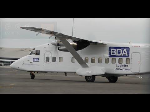 *RARE* BDA Night Express Short 360 D-CCAS Arrival, Start-Up, Taxi & Departure At SEN 06/09/2016