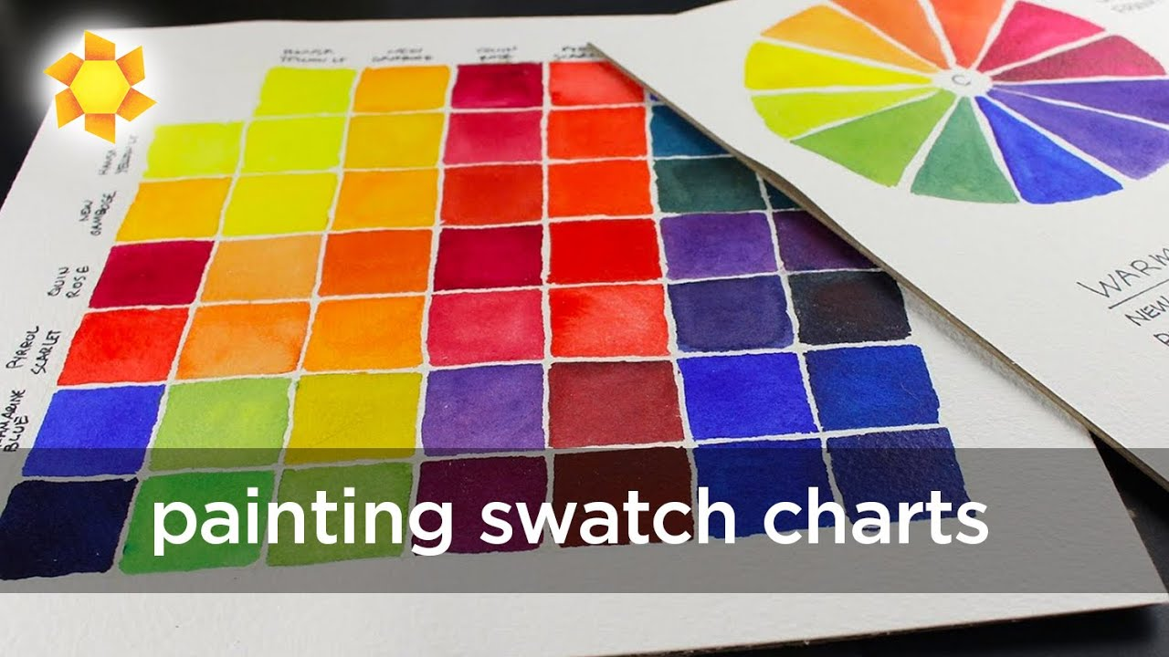 watercolor swatch charts daniel smith essentials 6pack youtube