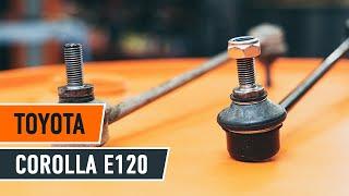 Come cambiare Tiranti barra stabilizzatrice TOYOTA COROLLA Saloon (_E12J_, _E12T_) - video tutorial