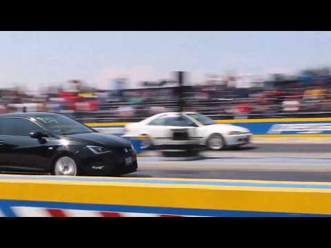 Ibiza Cupra vs Honda Civic | Arrancones Pegaso Febrero 2018