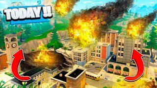 METEORS HITTING TILTED TOWERS RIGHT NOW! (Fortnite Battle Royale)
