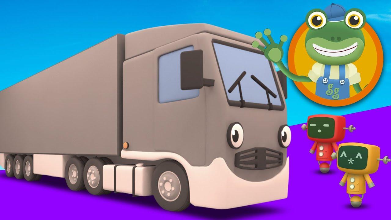 Larry The Lorry Visits Geckos Garage  Big Trucks For Children  YouTube
